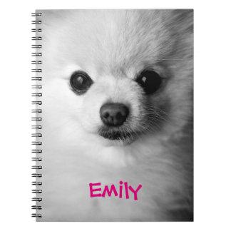 Cuaderno precioso de Pomeranian