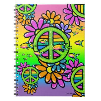 Cuaderno psicodélico del Hippie de la flor de la p