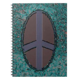 Cuaderno psicodélico del signo de la paz de la