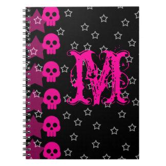 Cuaderno punky femenino de la inicial del