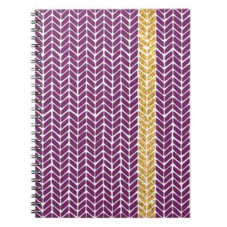 Cuaderno púrpura de Chevron
