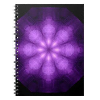 Cuaderno púrpura de Kaliedoscope del espectro comp