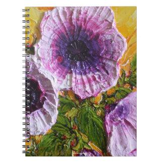 Cuaderno púrpura de la correhuela