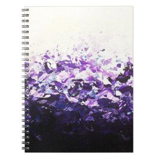 Cuaderno púrpura de la onda