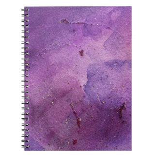 Cuaderno púrpura de la pintura del brillo de la ni