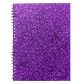 Cuaderno púrpura de la uva del vintage