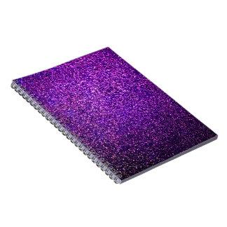 cuaderno púrpura del brillo