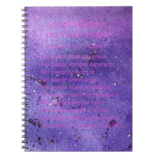 Cuaderno púrpura del brillo de la niebla de Lo