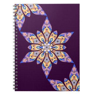 Cuaderno púrpura del caleidoscopio
