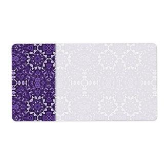Cuaderno púrpura del personalizado del modelo del  etiquetas de envío