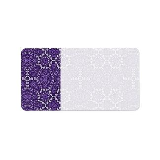 Cuaderno púrpura del personalizado del modelo del  etiquetas de dirección