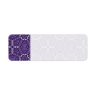 Cuaderno púrpura del personalizado del modelo del  etiqueta de remite