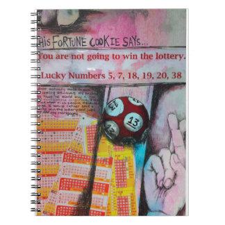 Cuaderno que gana de la lotería