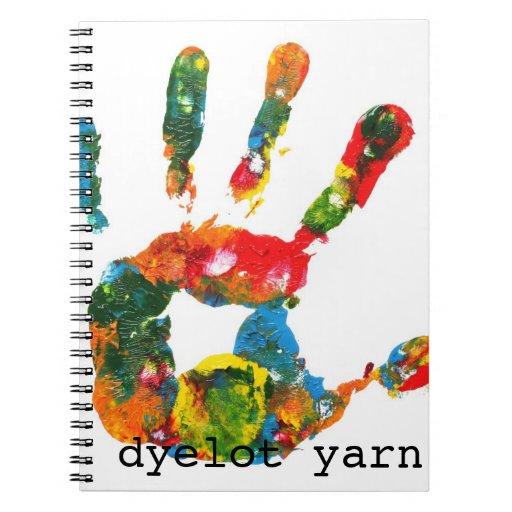 Cuaderno que hace punto del hilado de Dyelot