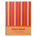 Cuaderno rayado de encargo del naranja y del aránd