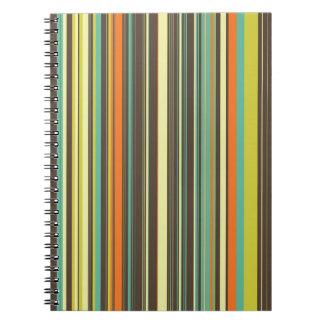 Cuaderno rayado de la hierba del otoño