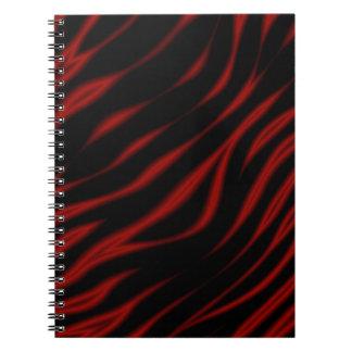 Cuaderno rayado del tigre oscuro