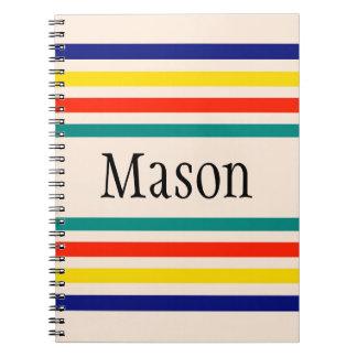 Cuaderno rayado intrépido del vintage adaptable