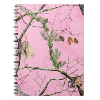 Cuaderno real de Camo del camuflaje del chica rosa