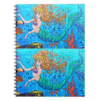cuaderno redheaded de 2 sirenas