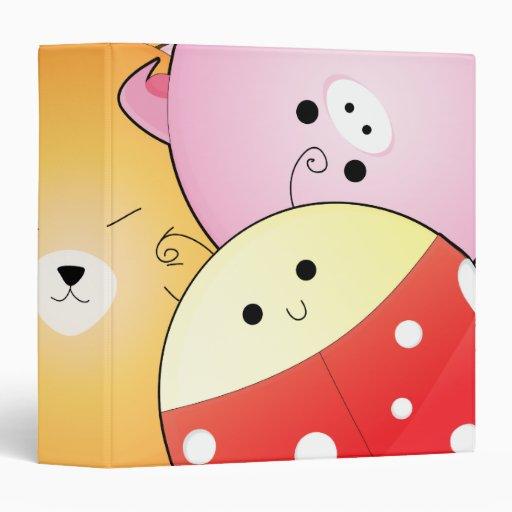 """cuaderno redondo lindo de los animales carpeta 1 1/2"""""""