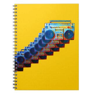 Cuaderno retro de Boomboxes