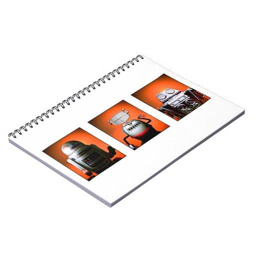 Cuaderno retro de la formación 01 del robot del ju