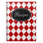 Cuaderno retro de la receta