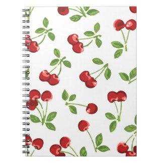 Cuaderno retro de las cerezas