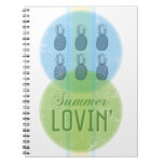Cuaderno retro de Lovin del verano