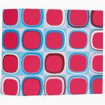 cuaderno retro del modelo de los cuadrados