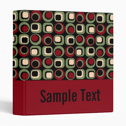 Cuaderno retro rojo de la carpeta