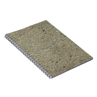 Cuaderno rocoso de la textura