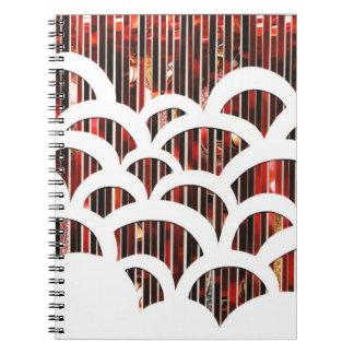 Cuaderno rojo de la concha de peregrino del arte d
