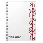 Cuaderno (rojo) de la marfil de Tendrillon