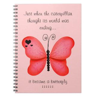 Cuaderno rojo de la mariposa