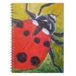 Cuaderno rojo de la mariquita