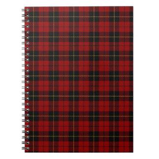 cuaderno rojo de la tela escocesa de Wallace