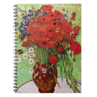 Cuaderno rojo de las amapolas y de las margaritas