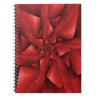 Cuaderno rojo de los brazos espirales