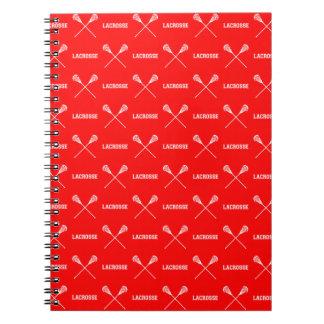 Cuaderno rojo de los palillos de LaCrosse