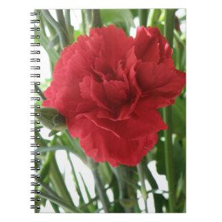 Cuaderno rojo del clavel