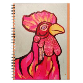 Cuaderno rojo del gallo