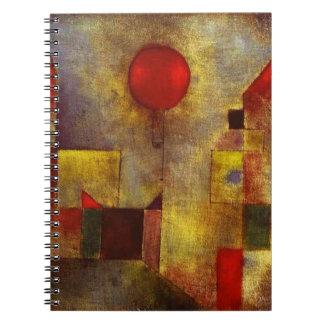 Cuaderno rojo del globo de Paul Klee