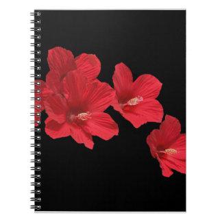 Cuaderno rojo del hibisco