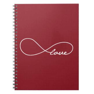 Cuaderno rojo del infinito del amor