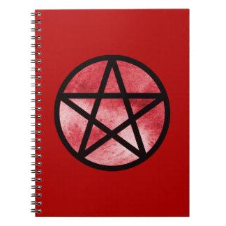 Cuaderno rojo del pentáculo