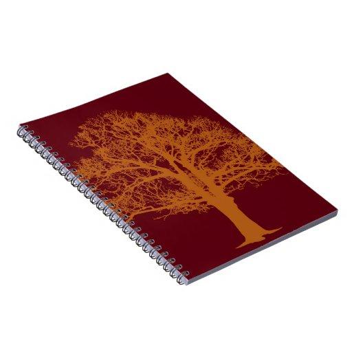 Cuaderno rojo del roble