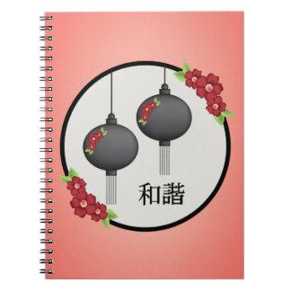 """Cuaderno rojo del """"unísono"""" de las flores de la"""