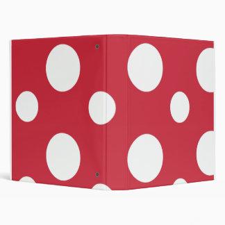 """Cuaderno rojo grande de la escuela de los lunares carpeta 1"""""""